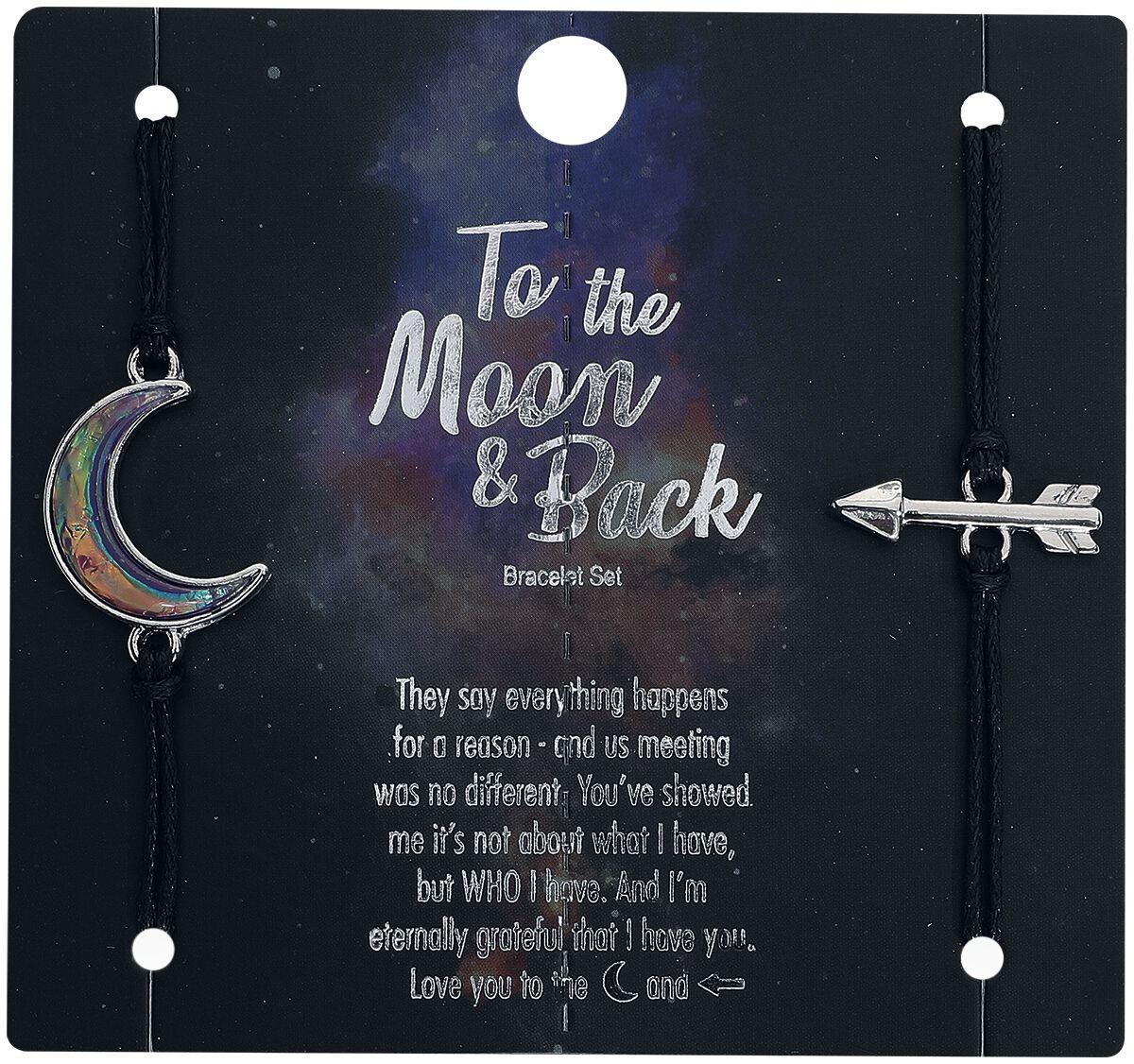 Image of Blackheart Moon and Back Armband-Set schwarz