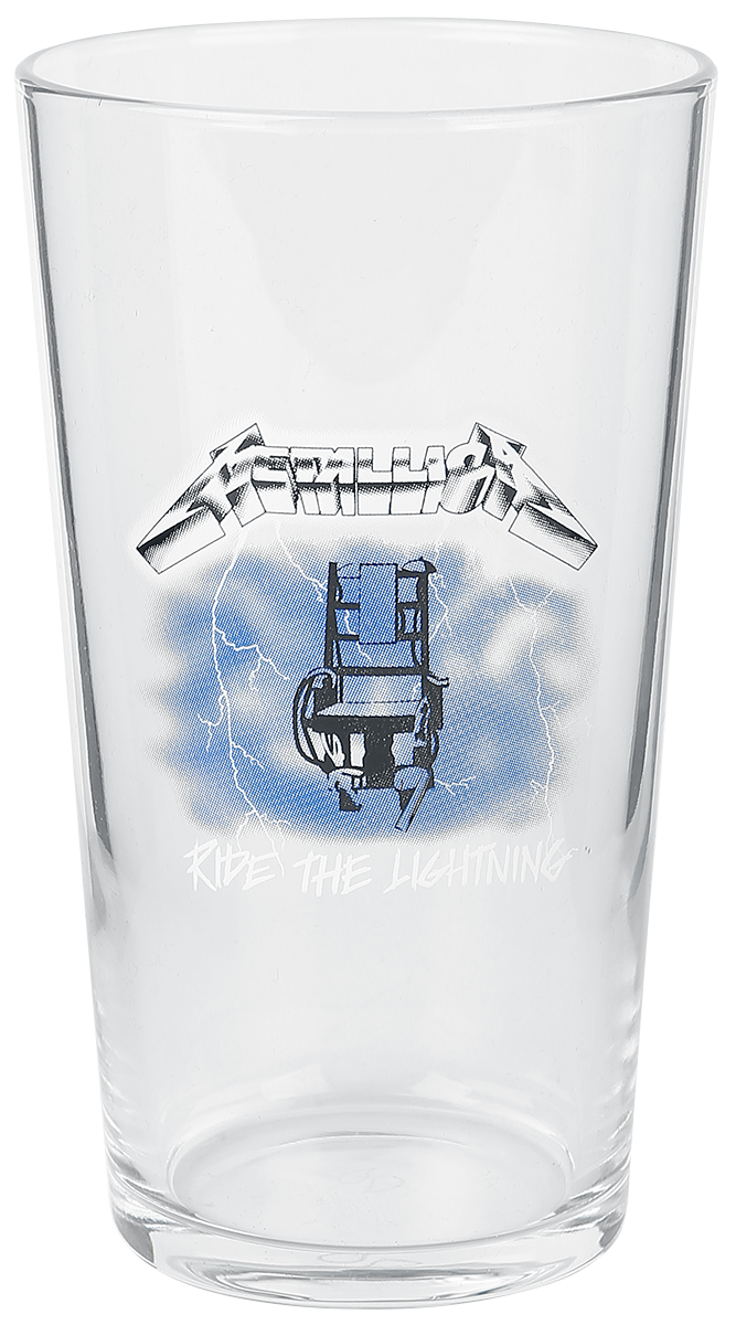 Metallica - Ride The Lightning - Pint-Glas - klar