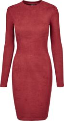 Ladies Peached Rib Dress LS