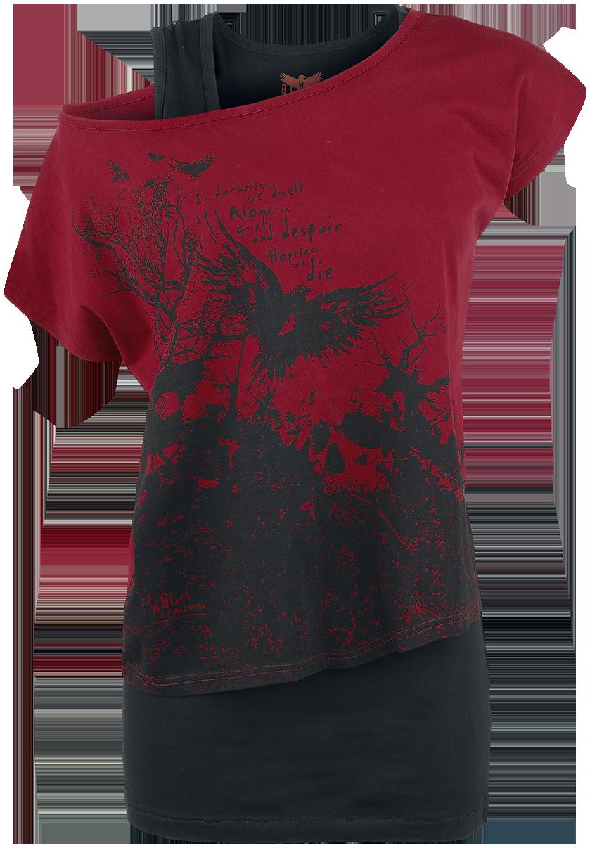 Black Premium by EMP - Got My Mind Set On You - Girls shirt - black-red image