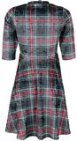 No Heart Velvet Tartan Dress
