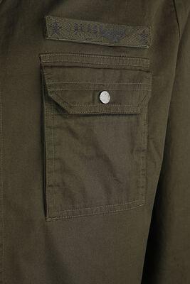 olives Hemd mit Brusttaschen im Military Style