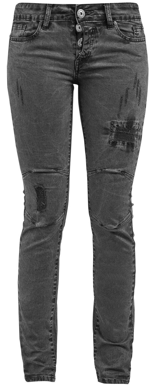 Hosen für Frauen - Black Premium by EMP Skarlett Jeans grau  - Onlineshop EMP