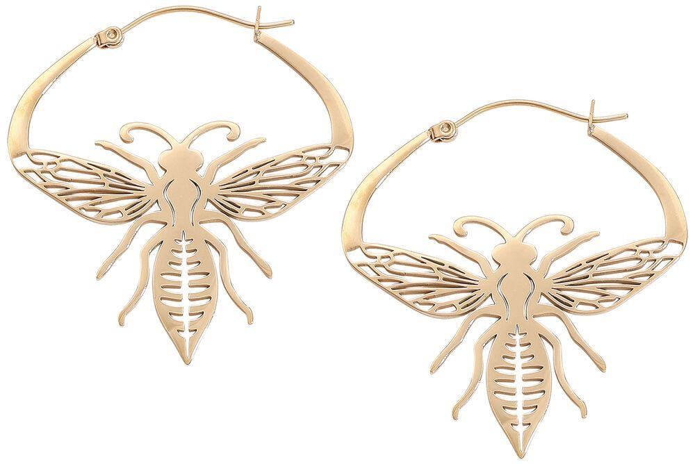 Golden Bee Hoops