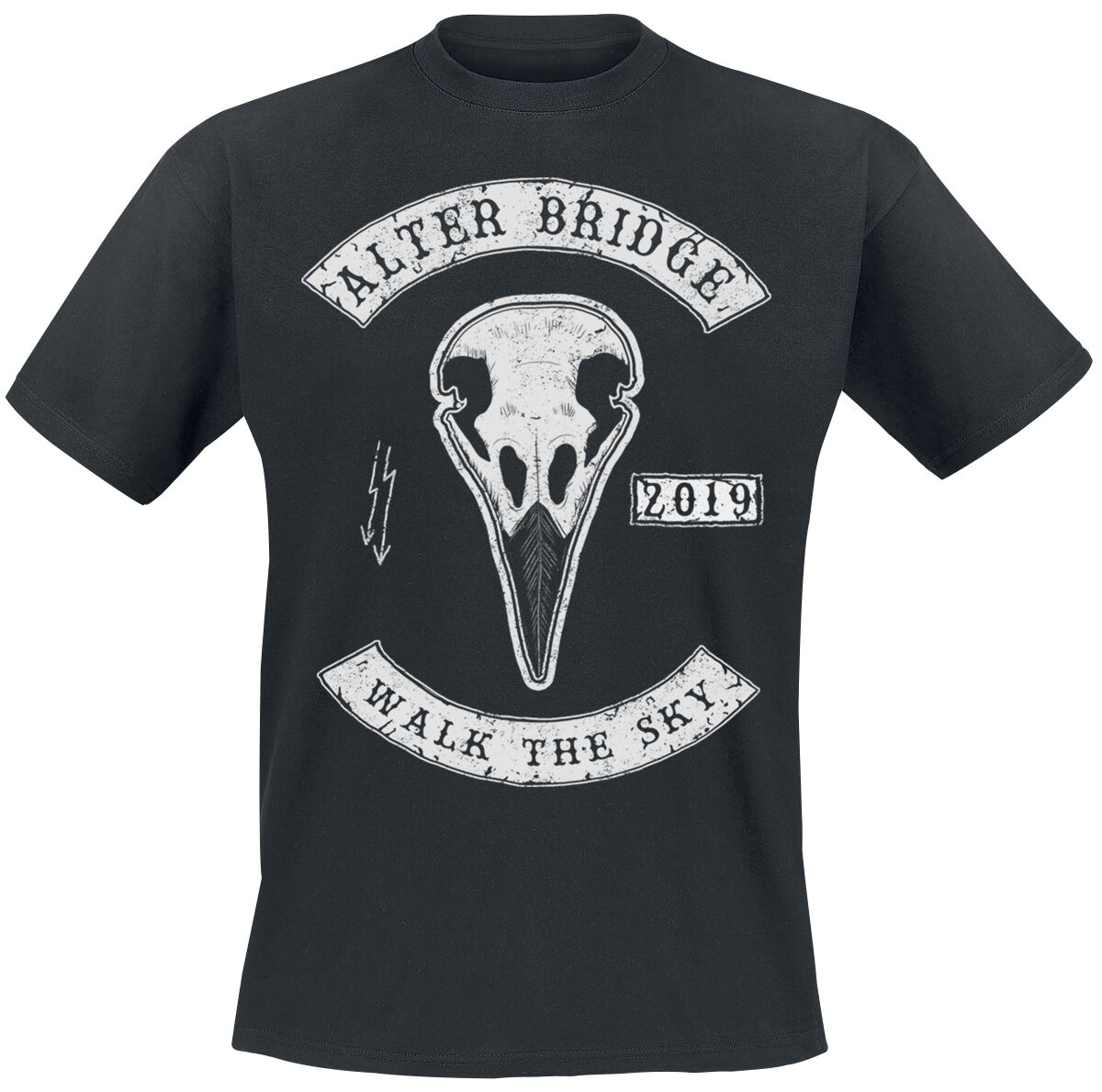 Image of Alter Bridge Raven Skull T-Shirt schwarz