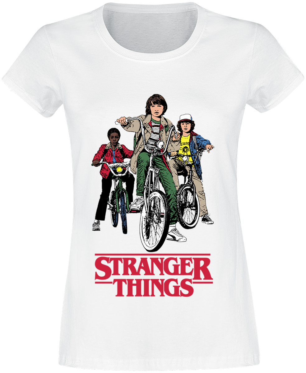 Stranger Things - Bike Gang - Girls shirt - white image