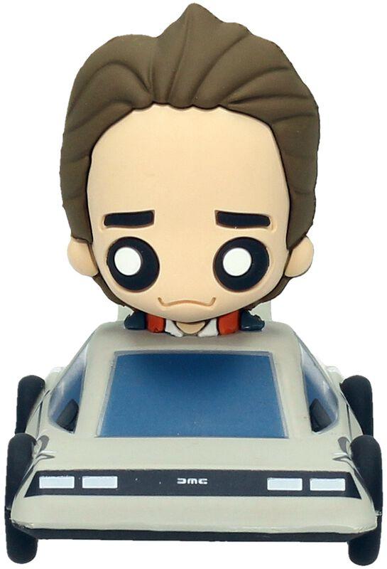 Marty McFly in Delorean (Pokis Figur)
