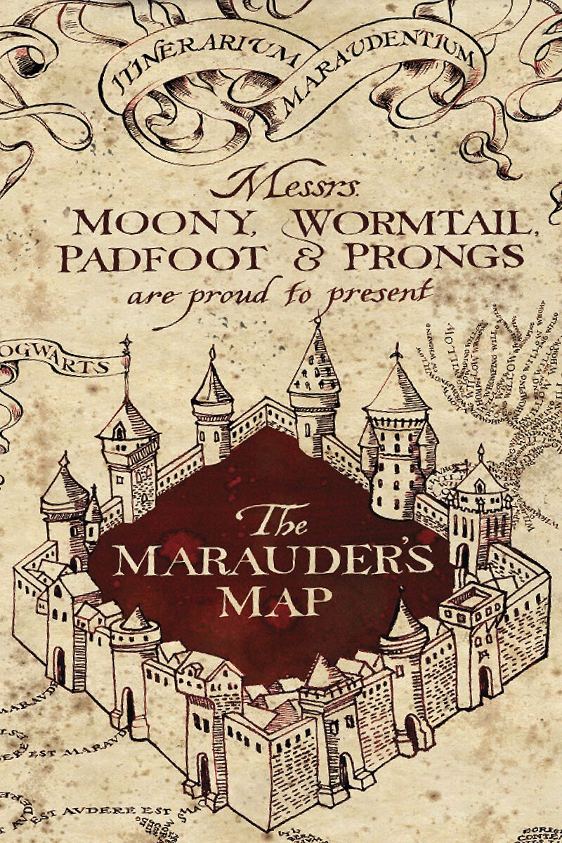Karte Des Rumtreibers Harry Potter Bettwäsche Emp