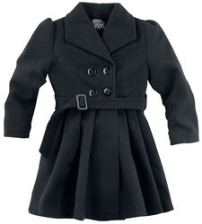 Black Vintage Kids Swing Coat