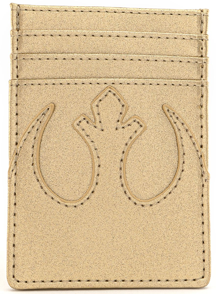 Image of Star Wars Loungefly - Rebel Card Holder goldfarben