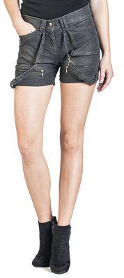 Rockige Shorts mit Bändern Black Premium