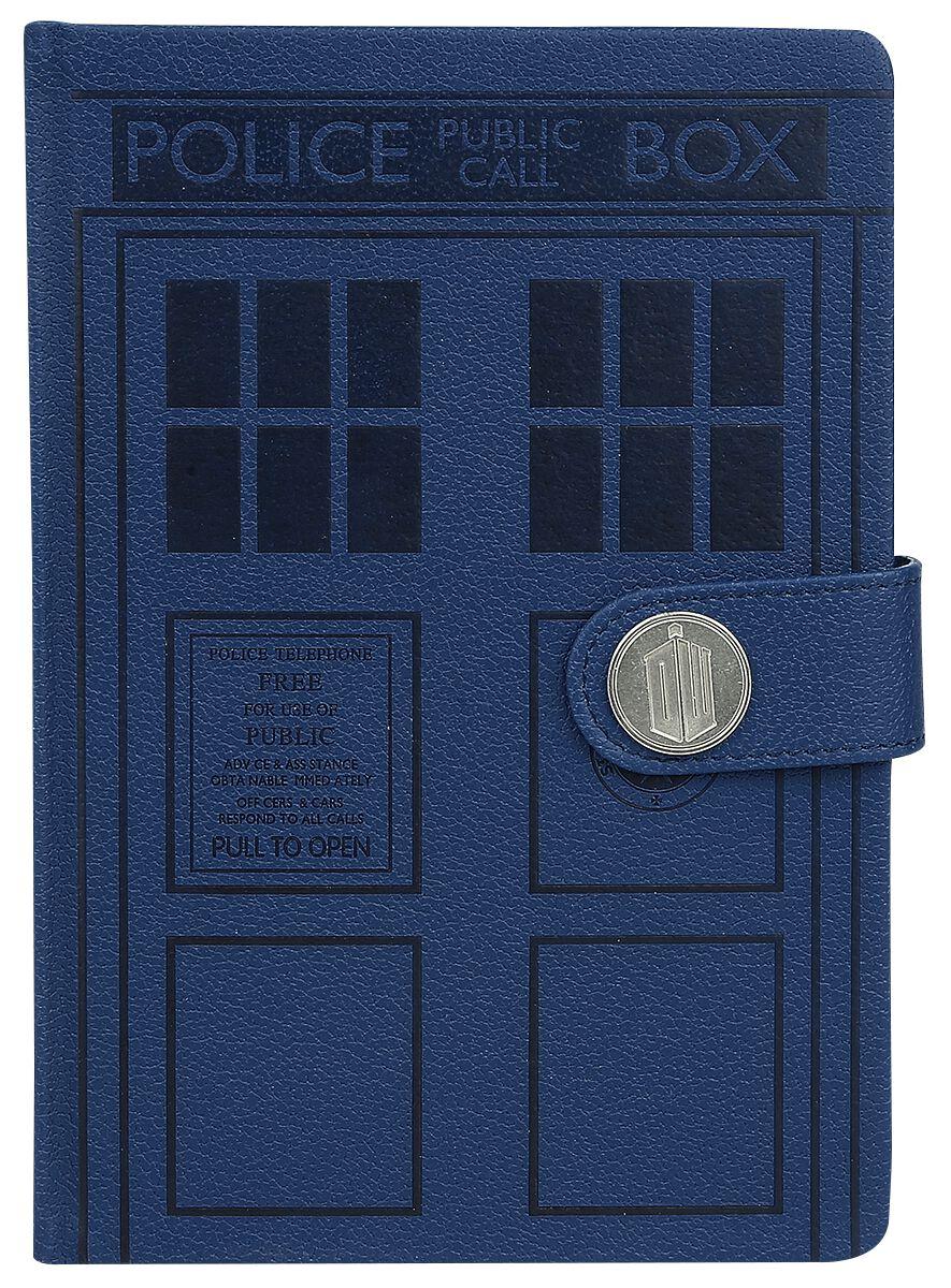 Doctor Who  Tardis  Notizbuch  blau