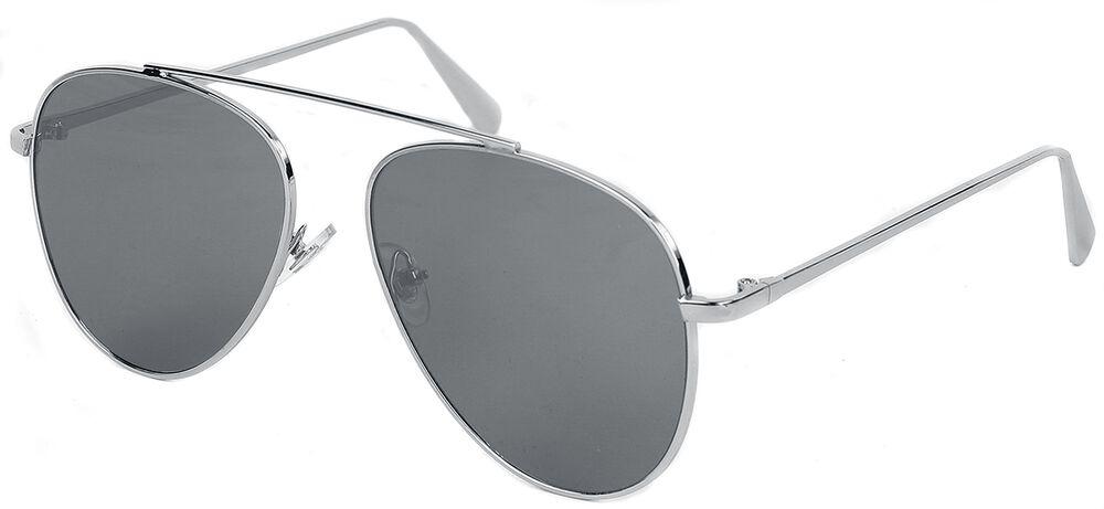 Pilotenbrille Shiny Silver Mirror