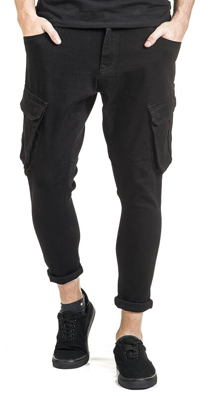 Tapered Cargo Denim