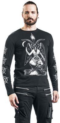 Langarmshirt mit Gothicprint