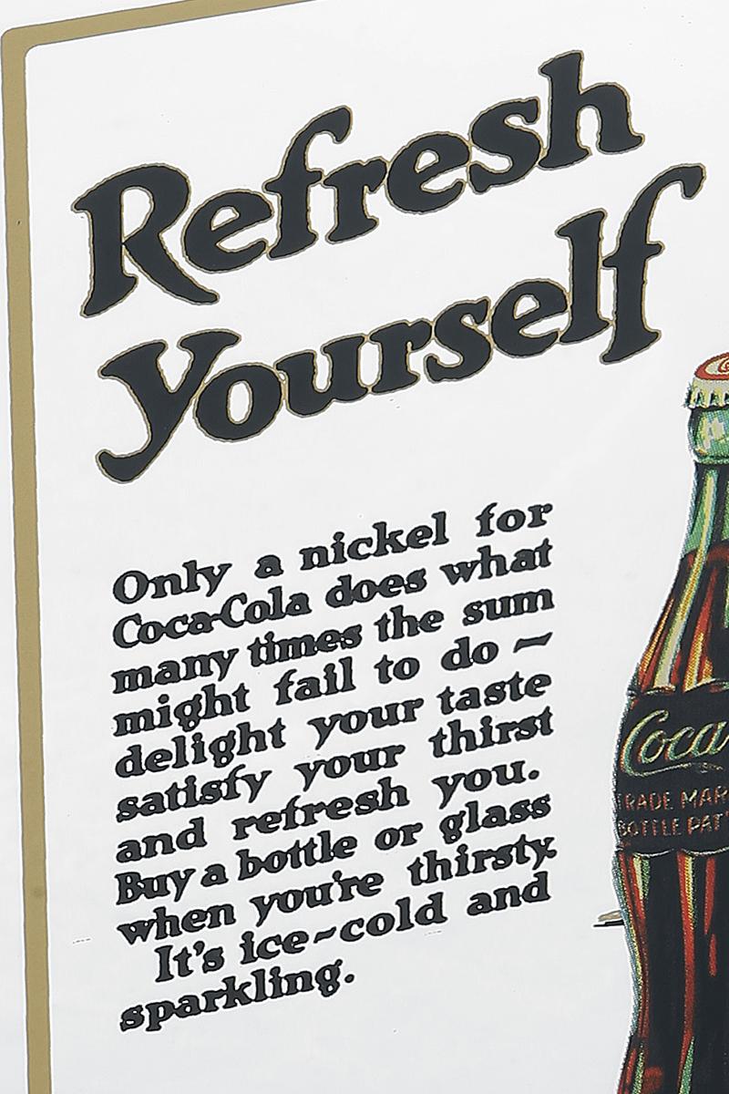 Image of Coca Cola 5 Cent Spiegel Mehrfarbig