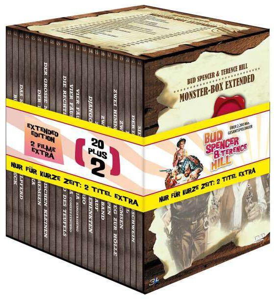 Bud Spencer  Bud Spencer & Terence Hill - Monster-Box Extended  22-DVD  Standard