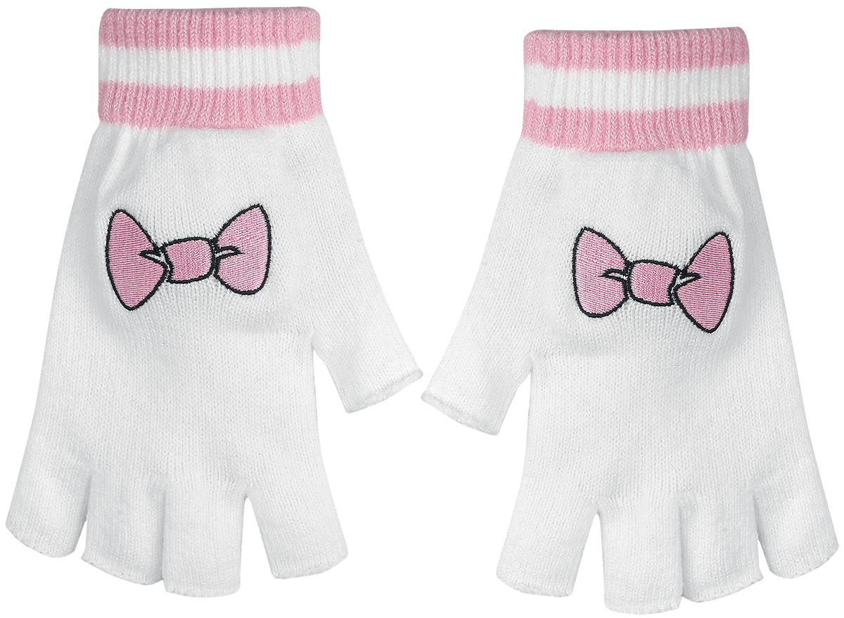 Image of Aristocats Marie Fingerlose-Handschuhe weiß/rosa