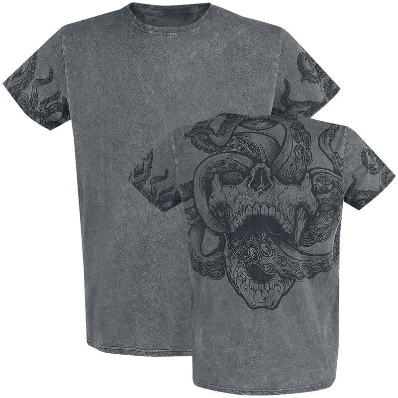 T-Shirt mit Waschung und Rückenprint