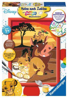 Simba, Timon und Pumba - Malen nach Zahlen