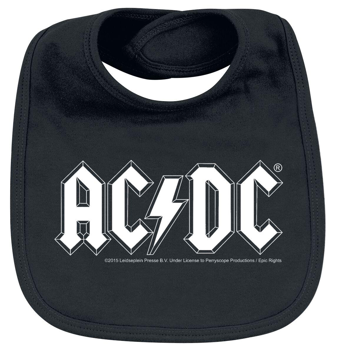 Image of AC/DC Logo Baby Lätzchen schwarz