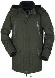 Oliv/schwarze Jacke
