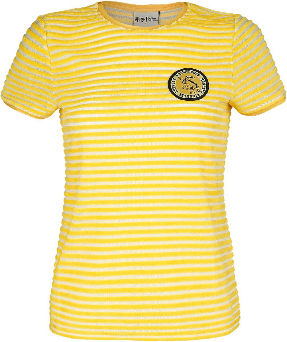 Harry Potter Hufflepuff T-Shirt gelb weiß 376725