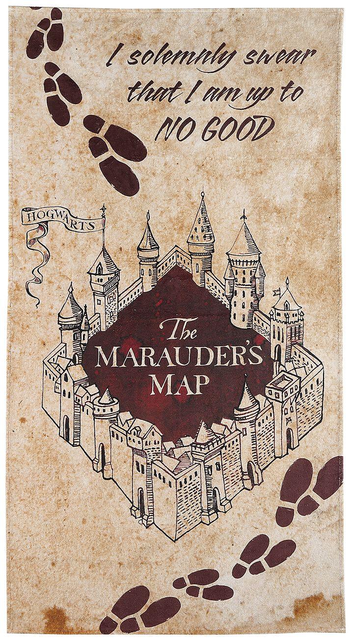 Image of Harry Potter Karte des Rumtreibers Badetuch allover