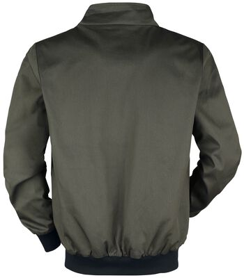 Khaki Übergangsjacke mit Stehkragen