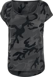 Ladies Camo Back Shaped Tee
