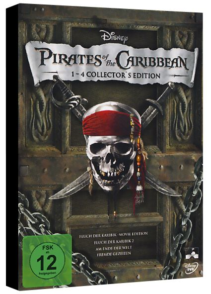 1 4 Collectors Edition Pirates Of The Caribbean Dvd Emp