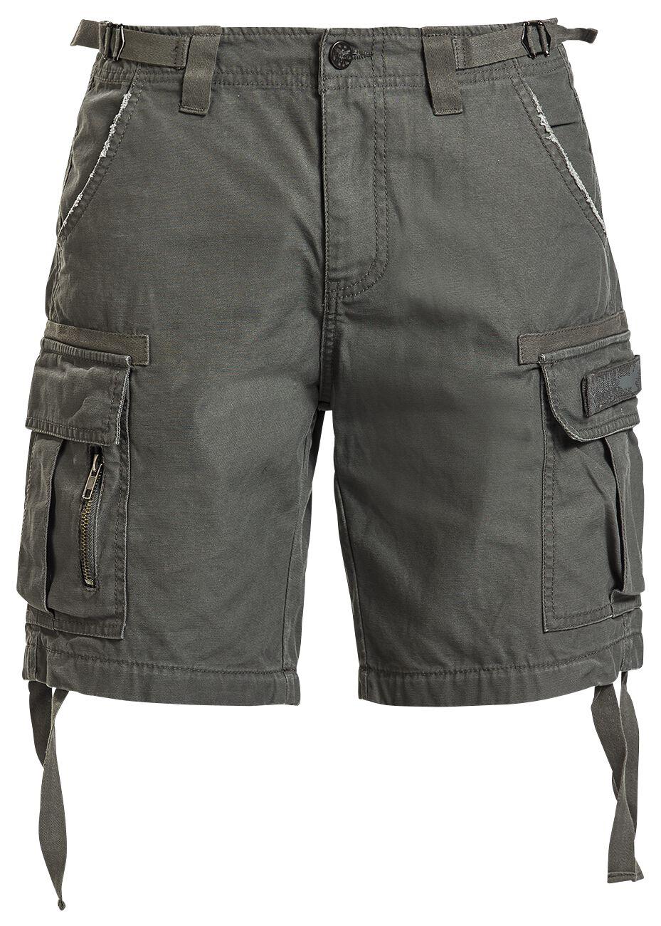 Black Premium by EMP Army Vintage Shorts Shorts olive