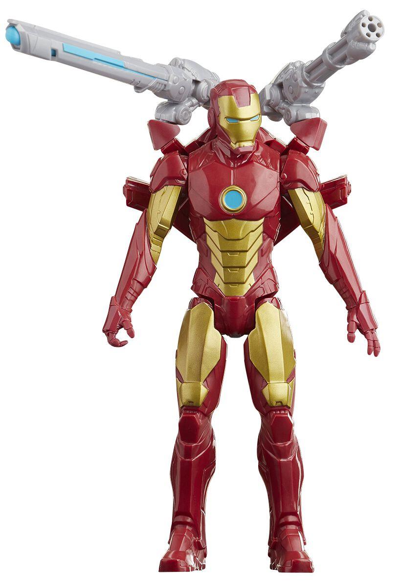 Image of Avengers Titan Hero Serie Blast Gear Deluxe - Iron Man Actionfigur multicolor