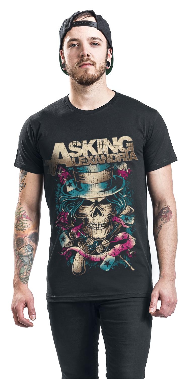 Image of Asking Alexandria Hat Skull T-Shirt schwarz