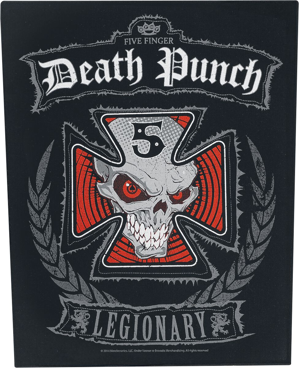 Five Finger Death Punch  Legionary  Backpatch  multicolor