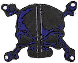 Patch: Blau-Schwarzer Schädel