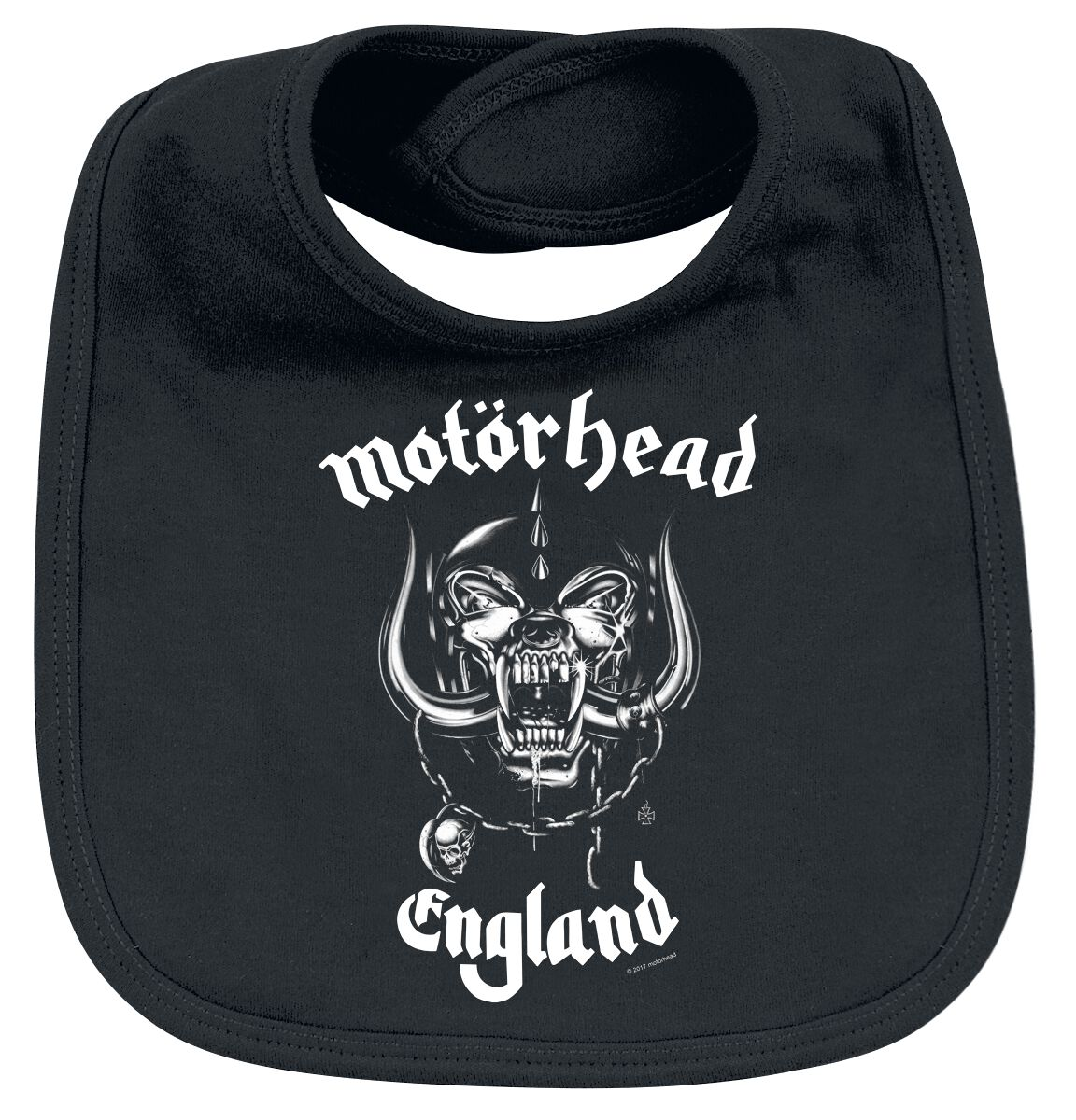 Image of Motörhead England Baby Lätzchen schwarz