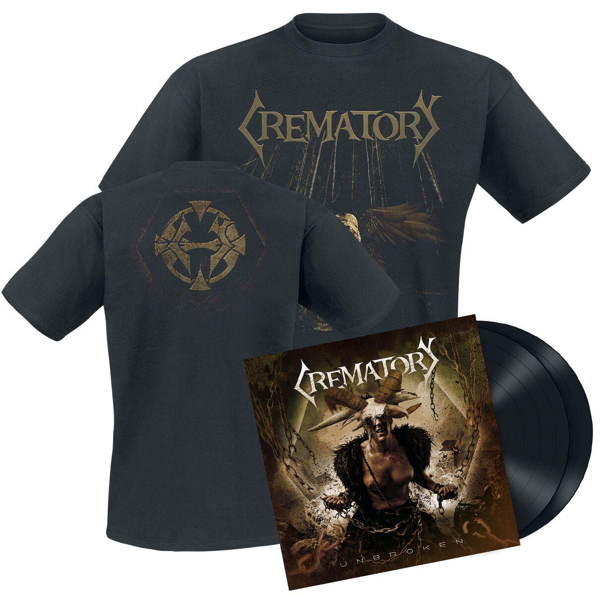 Image of Crematory Unbroken 2-LP & T-Shirt Standard
