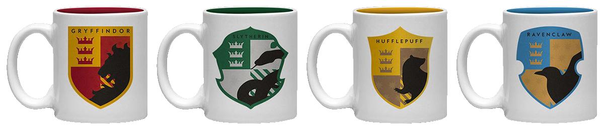 Harry Potter - Häuser Embleme - Espresso Tassen Set - Tassen-Set - multicolor