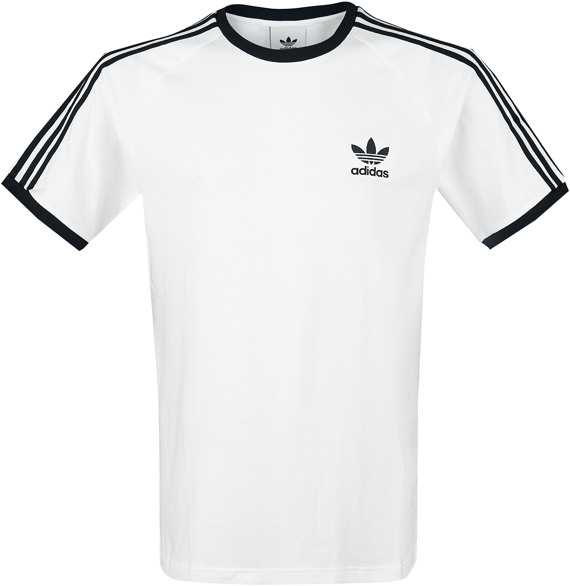 Adidas - 3-Stripes Tee - T-Shirt - white-black image
