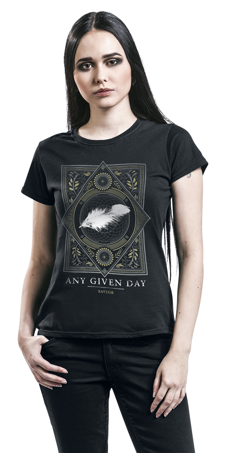 Image of Any Given Day Savior Girl-Shirt schwarz