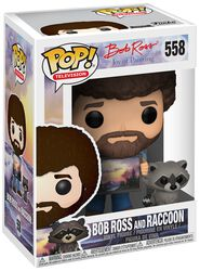 The Joy of Painting - Bob Ross und Raccoon (Chase Edition möglich) Vinyl Figure 558