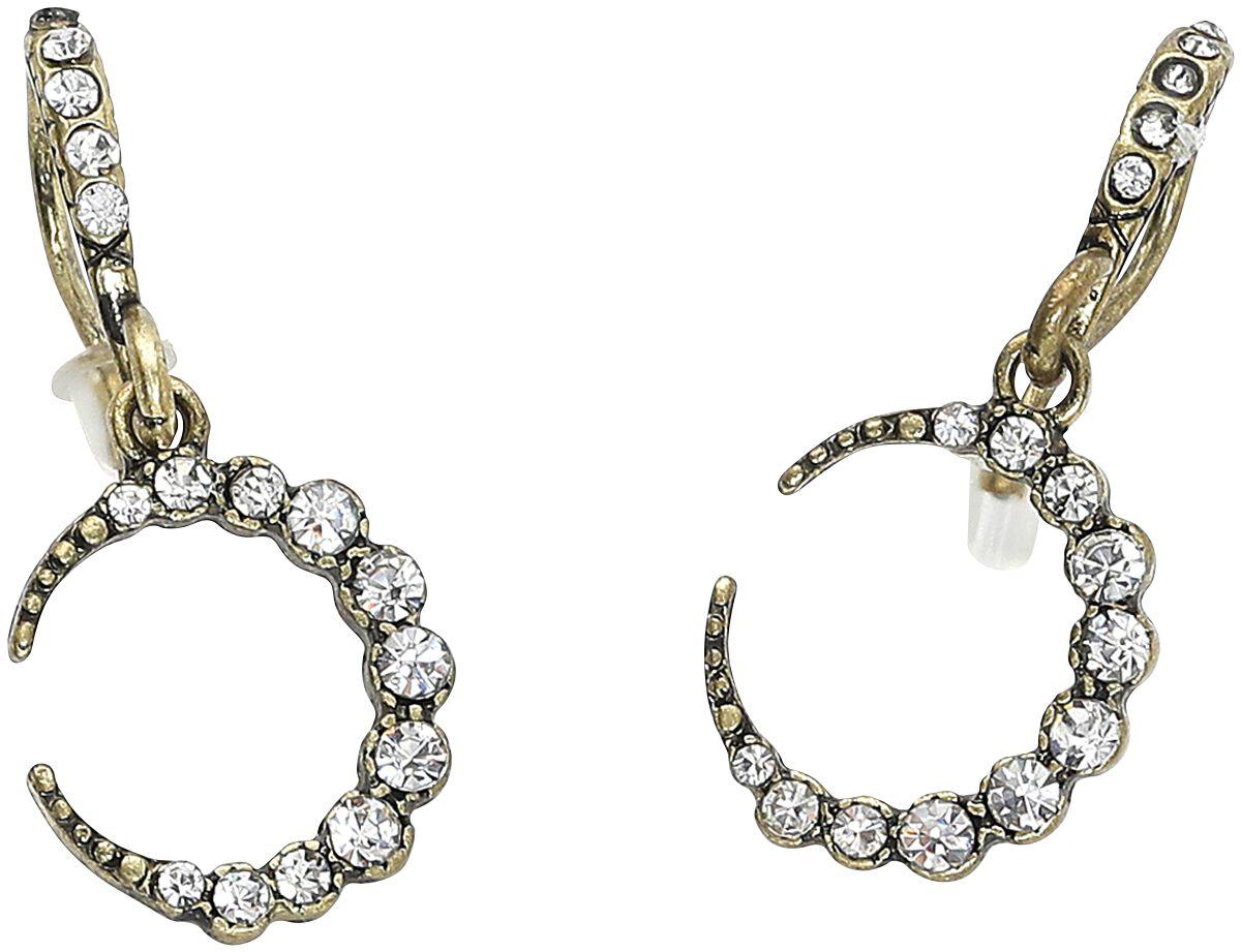 Lovett & Co. Crystal Moon Earrings Ohrring goldfarben 11399