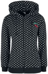 Dots Hooded Zip-Jacket