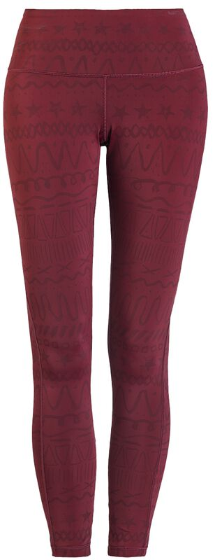Sport und Yoga - rote Leggings mit Alloverprint