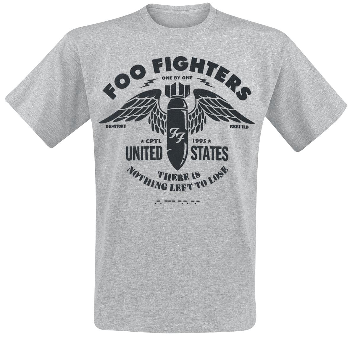 Foo Fighters - Stencil - T-Shirt - mottled light grey image