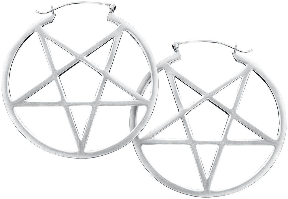 Small Pentagram Hoops