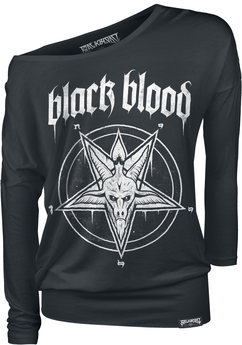 Black Blood - Pentagram - Girls longsleeve - black image