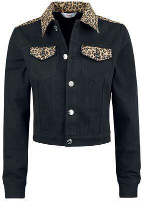 Rock n Roll Leopard Denim Jacket