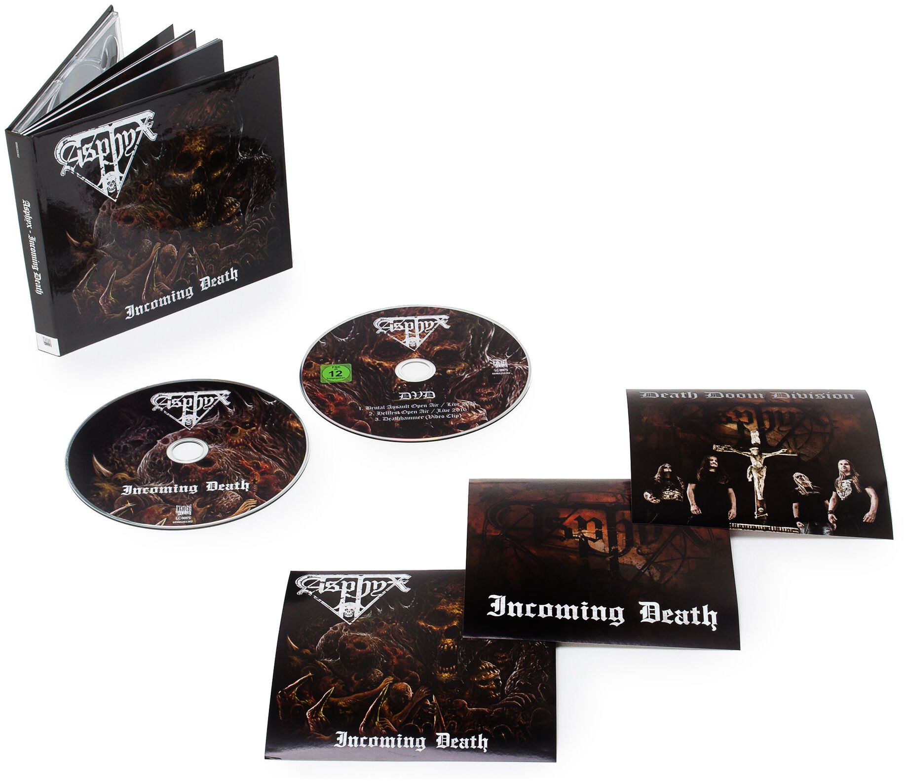 Image of Asphyx Incoming death CD & DVD Standard